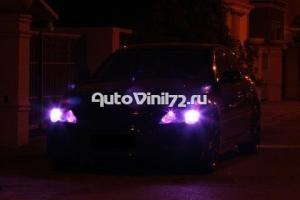 Тонировка фар фиолетовая